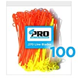 #1: Aero-Flex No More Line! Combo Replacement Blades 100 PRO PACK HEAVY DUTY LINE BLADES