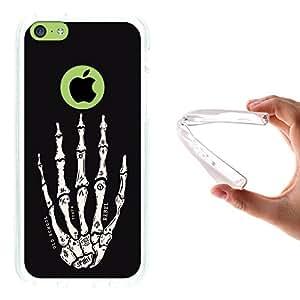 WoowCase - Funda Gel Flexible { iPhone 5C } Mano de Esqueleto Carcasa Case Silicona TPU Suave