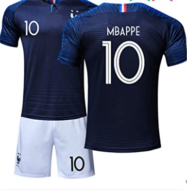 pretty nice 0d2e0 4a198 amp; Lisimke Kit France Team Mbappe Kid Youth Replica Shorts ...