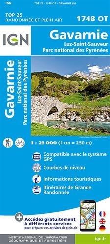 IGN Gavarnie/Luz-St-Sauveur/Parc National des Pyrénées - Carte topographique