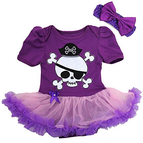 Baby Pirate Costume Bodysuit Tutu Large (Girls Pirate Outfits)