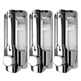 michealvkwam 3 Pcs 350ml Wall Mount Sanitizer Bathroom Shower Shampoo Soap Dispenser