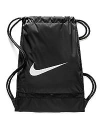 Nike Brasilia - Mochila de Entrenamiento con cordón y Laterales con Cierre, Bolsa Resistente al Agua