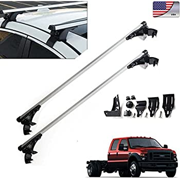 "For Ford F-150 F-350 F-450 47""(120cm) Car Top Luggage Cross Bar Roof Rack Carrier Skidproof Rails with 3 Kinds of Clamps"