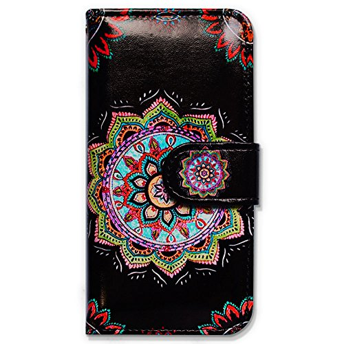 Bfun Packing Bcov Colorful Mandala Flower Wallet Leather Cover Case For iPhone 6 Plus/6S Plus