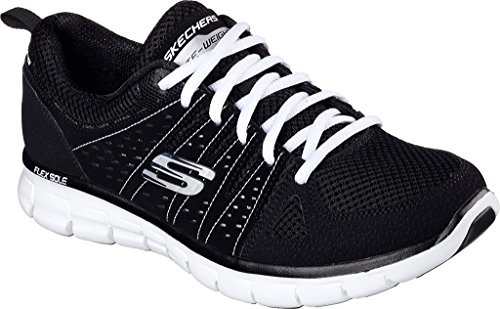 Skechers Synergy-Look Book, Women's Low-Top Sneakers Black/White