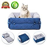 Cat Sleeping Bag Small Cat Bed Self Warming Soft Bed Cave with Removable Pillow for Kitten Puppy Rabbits Small Animals,22″x14.5″x7.5″(Blue)