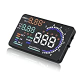 SEANFAR A8 Car Head up Display HUD 5.5'' for Car with OBD2 High-definition with Speed Fatigue Warning RPM MPH Fuel Consumption
