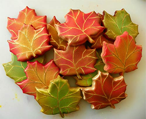 LILIAO Fall Thanksgiving Cookie Cutters Set - 7 Piece - Turkey, Pumpkin, Maple Leaf, Oak Leaf, Squirrel, Acorn and Apple Cutter - Stainless Steel by LILIAO (Image #6)