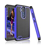 Cheap ZTE Blade Max 3 Case, Tinysaturn [YSaturn Series] [Blue] Hybrid Shock Absorbing Dual Rubber Plastic Defender Bumper Rugged Hard [Drop Protection] Cover Cases For ZTE Blade Max 3 /Z986DL / Z986U