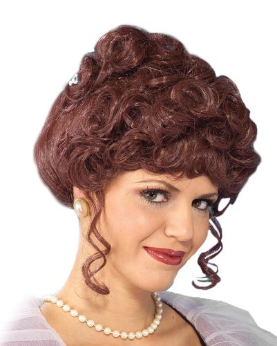 Victorian Lady Wig Adult, One Size, Brown (Gibson Girl Wig)
