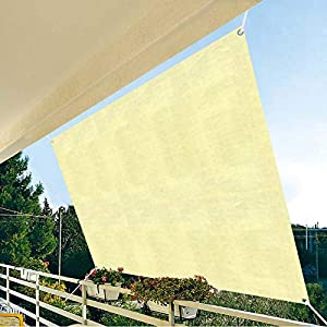 Vela De Sombra Rectangular Toldo Vela De Sombra, Vela Solar Con 8m Cuerda, Protección Rayos UV Lonas Impermeables Exterior Sombrilla Jardin Exterior Para Patio, Exteriores, Jardín- 2×1.6m