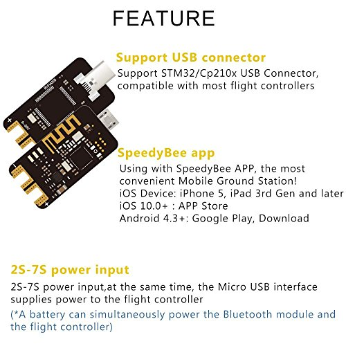 nidici Speedy Bee Bluetooth USB Adapter Betaflight Convenient Mobile Ground Station Supported iOS and Android for FPV Drone Flight Controller by Speedy Bee (Image #1)