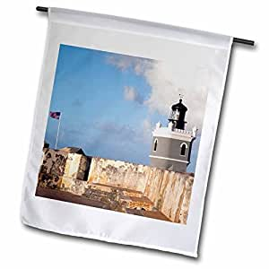 Danita Delimont - Lighthouses - Puerto Rico, Old San Juan, El Morro lighthouse-CA27 WBI0015 - Walter Bibikow - 12 x 18 inch Garden Flag (fl_72951_1)