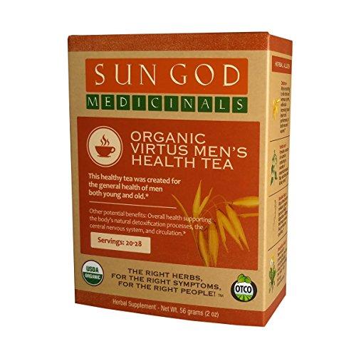 Certified Organic Herbal Tea | Virtus Men's Health Loose Leaf Herbal Tea | Sun God Medicinals | 2 oz | 18-24 servings