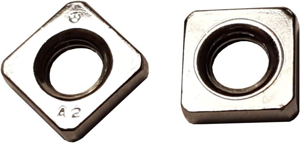 Quadratmutter. 10 STK M6 Vierkantmutter niedrige Form Einlegemutter DIN 562 Edelstahl A2 M6