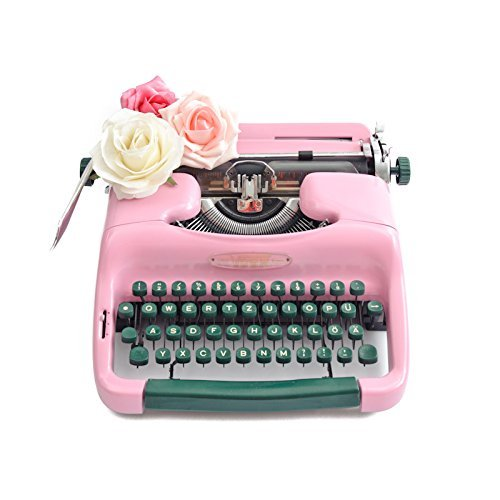 Schreibmaschine Rosa Hochzeitsdeko Geschenk Hochzeit Gastebuch