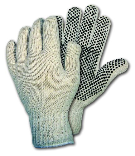 UPC 045143965830, MCR Safety 9658L Cotton/Polyester String Knitted Multi-Purpose Gloves with White Hemmed Cuff, Natural, Large, 1-Pair
