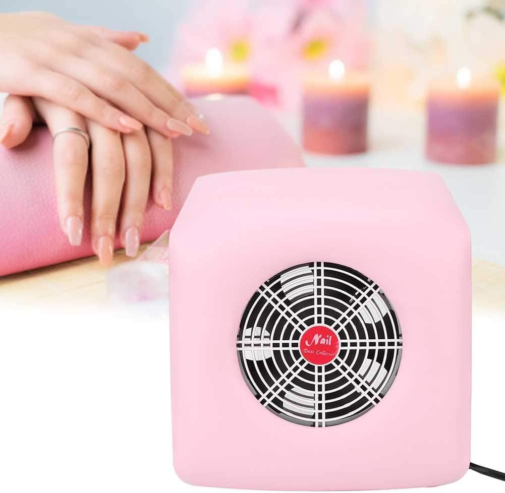 Colector de polvo de uñas 30W, Colector de polvo de uñas Aspiradora fuerte Arte de uñas Aspiradora Manicura Salon Tools(Rosa (UE)): Amazon.es: Belleza