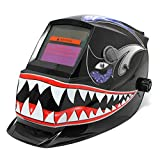 Shark Mouth Solar Auto Darkening Welder Mask Electrowelding Welding Helmet - Electrical Welding Tools Helmet Mask & Goggles - 1 x Optical Fiber Power Meter(Battery are not included)