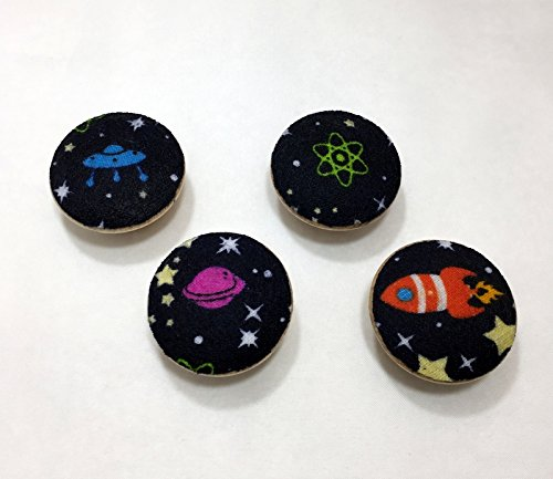 Rocket Knob (Space Rockets Drawer Knob Pulls Set of 4 / Cabinet / Nursery / Wood / Handles / Room Decor / Furniture Accessories / Kid's Room / Aliens / Outer Space)