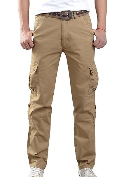 comprare on line ac158 05a5d Sentao Uomo Pantaloni Cargo con tasconi Sportivi Casual Pantaloni Lunghi  Stile Militare