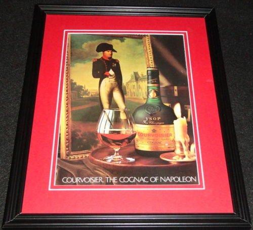 1983 Courvoisier Cognac Framed 11x14 ORIGINAL Advertisement Napoleon ()