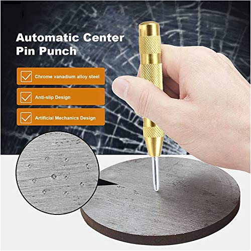 BianchiPamela 5 Automatic Center Pin Punch Strike Spring Loaded Marking Starting Hole Tool