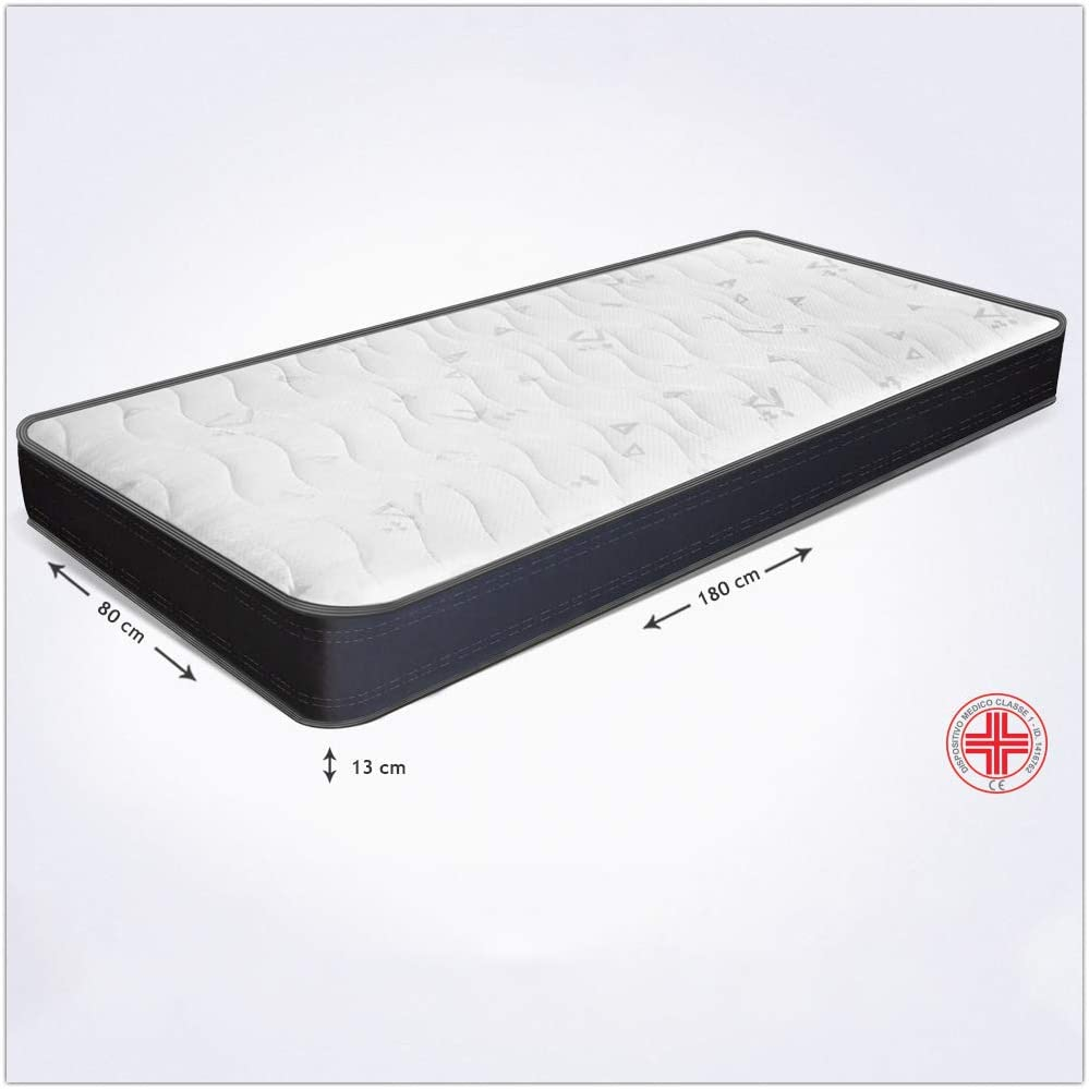 Colchón 80 x 180 x 13 cm, de espuma waterfoam - ortopédico - transpirable - para camas abatibles Summit