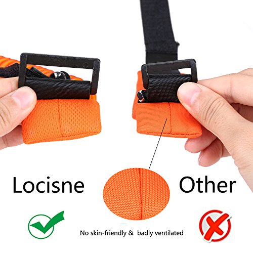 Locisne 2Pack Child Anti Lost Strap Skin Care Wrist Link Belt Sturdy Flexible Safety Harness for Travel Outdoor Shopping, Blue+Orange