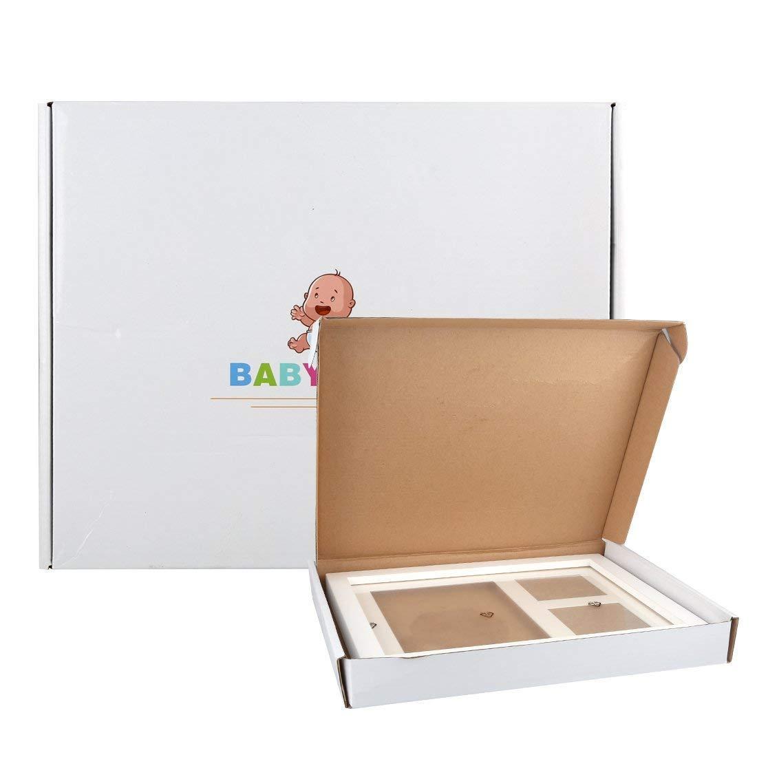 3D DIY Foto Bereich Weihnachtsgeschenke f/ür S/ü/ße Ewigkeit Erinnerungen Ungiftigem Lehm Mit Geschenk Box Baby Bilderrahmen Fotorahmen,Tatuer Holzbilderrahmen Baby Rahmen Abdruck