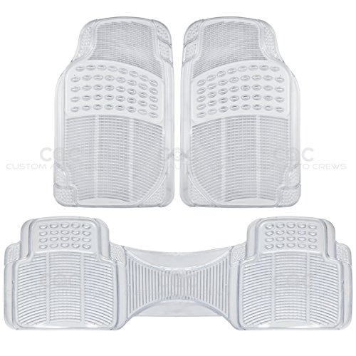 Premium Heavy Duty SUV Van Pick-Up Clear 3PC Rubber Floor Mats