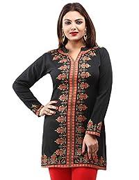 Maple Clothing Women's Indian Kurti Tunic Top Kurti Printed Blouse