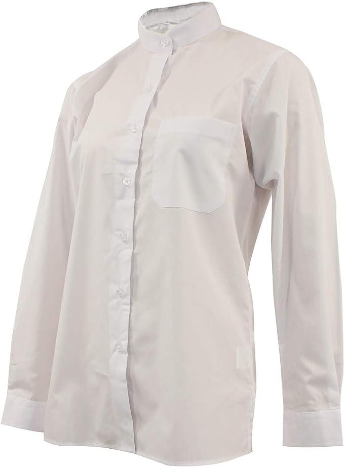 MISEMIYA - Camisa Uniforme Camarera SEÑORA Cuello Mao Mangas LARGAS MESERO DEPENDIENTA Barman COCTELERA PROMOTRORAS - Ref.8271: Amazon.es: Ropa y accesorios