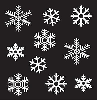 Wall Window Glass Christmas Holiday Sticker Vinyl Snowflakes