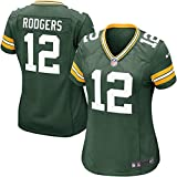 Women's Green Bay Packers Aaron Rodgers Nike Green Game Jersey (L)