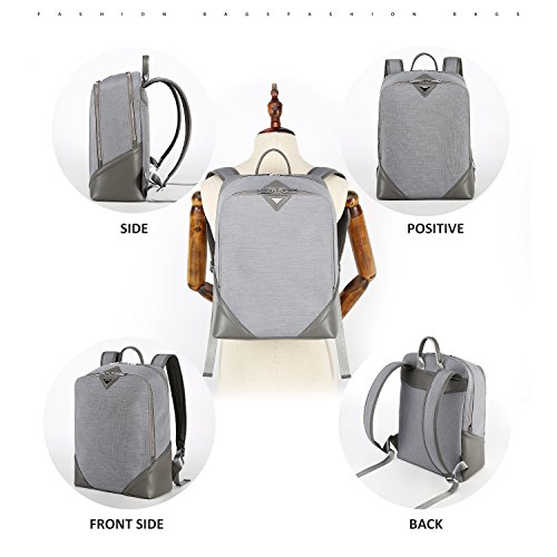 Business Water Resistant Laptop Backpack School College Student Computer Backpacks Fits Under 15 6 Inch Laptops Bag For Women And Men Lightweight Notebook Bags By Andy Grade Grey