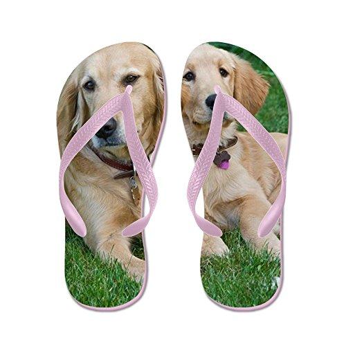 CafePress Golden Retrievers - Flip Flops, Funny Thong Sandals, Beach Sandals Pink