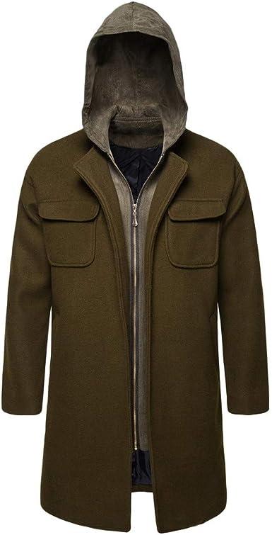 ✅Mens Winter Warm Jacket Suede Coat Faux Fur Fleece Lined Overcoat Outwear Parka