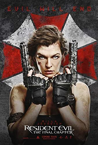 Amazon Com Resident Evil The Final Chapter Movie Poster 27 X 40