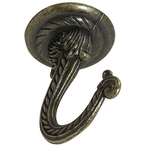 National Hardware N274-852 V2672 Swag Hook in Antique Brass (Large Brass Swag Hook)