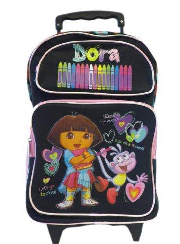 Dora The Explorer Large Rolling BackPack - Dora Large Rolling ()