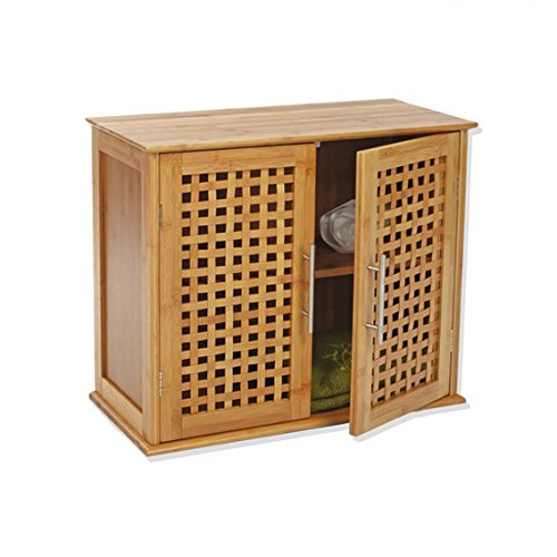 Waschtisch zur Wandmontage 2Türen aus Bambus
