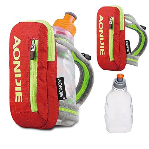 Geila Grip Handheld Bottle Hydration Pack with 250ML BPA Sport Water Bottle (Orange+250ML Bottle) For Sale