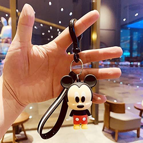 Keychain Disney Mickey Mouse Stitch Winnie Doll Keychain Handbag Pendant Cartoon Car Gift Key Chain Minnie Stitch Daisy Cute Keyring Key Ring (Color : 8, Size : Normal)
