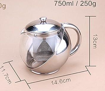 Tetera con calentador – Juego de infusor de té y tetera – vasos de cristal para