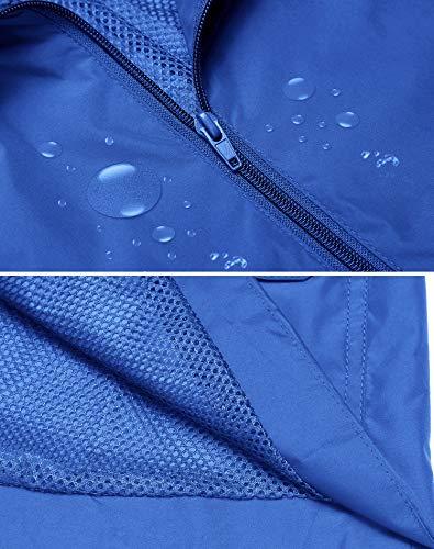 ZHENWEI Rain Jacket Women Waterproof with Lined Raincoat Outdoor Active Travel Hiking