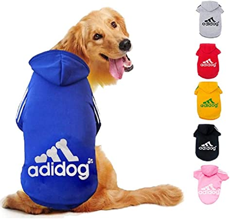 Imagen deDucomi Adidog - Sudadera con Capucha para Perros en Algodón Suave - Costuras Resistentes - Disponibles de XS a 8XL - Se envía Desde España (M, Azul)