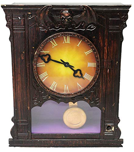 Magic Power Ltd. Unisex Adult Antique Haunted Clock Hidden Reaper Halloween Decoration -