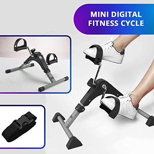Izoo® Mini Digital Fitness Cycle | Indoor Foot Paddle Exerciser with Adjustable Resistance LCD Display Calorie Counter | Perfect Weight Loss Kit for Men & Women | Best for Home Gym Cardio Exercise Price & Reviews